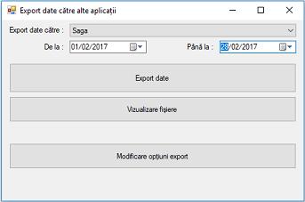 Export date saga din microerp